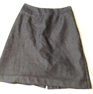 Navy Chambray pencil skirt